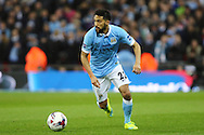 Gael Clichy of Manchester City in action. Capital One Cup Final, Liverpool v Manchester City at Wembley stadium in London, England on Sunday 28th Feb 2016. pic by Chris Stading, Andrew Orchard sports photography.