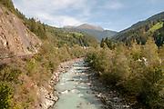 A small stream flowing near Prutz, Tyrol, Austria