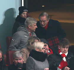 11 February 2017 Premier League Football : Arsenal v Hull City :<br /> Arsenal manager Arsene Wenger is spoken to by Ken Friar, managing director.<br /> Photo: Mark Leech
