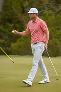 Lucas Bjerregaard (DEN) after sinking his putt on 2 during day 2 of the WGC Dell Match Play, at the Austin Country Club, Austin, Texas, USA. 3/28/2019.<br /> Picture: Golffile | Ken Murray<br /> <br /> <br /> All photo usage must carry mandatory copyright credit (© Golffile | Ken Murray)