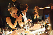 EVA HERZIGOVA; ANTOINE ARNAULT; ASTRID MUNOZ; Dinner to celebrate the opening of the first Berluti lifestyle store hosted by Antoine Arnault and Marigay Mckee. Harrods. London. 5 September 2012.
