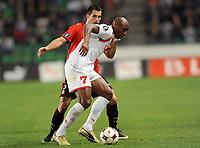 Fotball<br /> Frankrike<br /> Foto: Dppi/Digitalsport<br /> NORWAY ONLY<br /> <br /> FOOTBALL - UEFA CUP 2008/2009 - 1ST ROUND - 1ST LEG - STADE RENNAIS v FC TWENTE - 18/09/2008 - ROMANO DENNEBOOM (TWE) / CARLOS BOCANEGRA (REN)