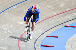 March 1, 2019 - Pruszkow, Poland - Filippo Ganna of Italy on his way to winning the Bronze medal in the Men's individual pursuit on day three of the UCI Track Cycling World Championships held in the BGZ BNP Paribas Velodrome Arena on March 01, 2019 in Pruszkow, Poland. (Credit Image: © Foto Olimpik/NurPhoto via ZUMA Press)