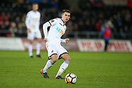 Tom Carroll of Swansea city in action. The Emirates FA Cup, 4th round replay match, Swansea city v Notts County at the Liberty Stadium in Swansea, South Wales on Tuesday 6th February 2018.<br /> pic by  Andrew Orchard, Andrew Orchard sports photography.