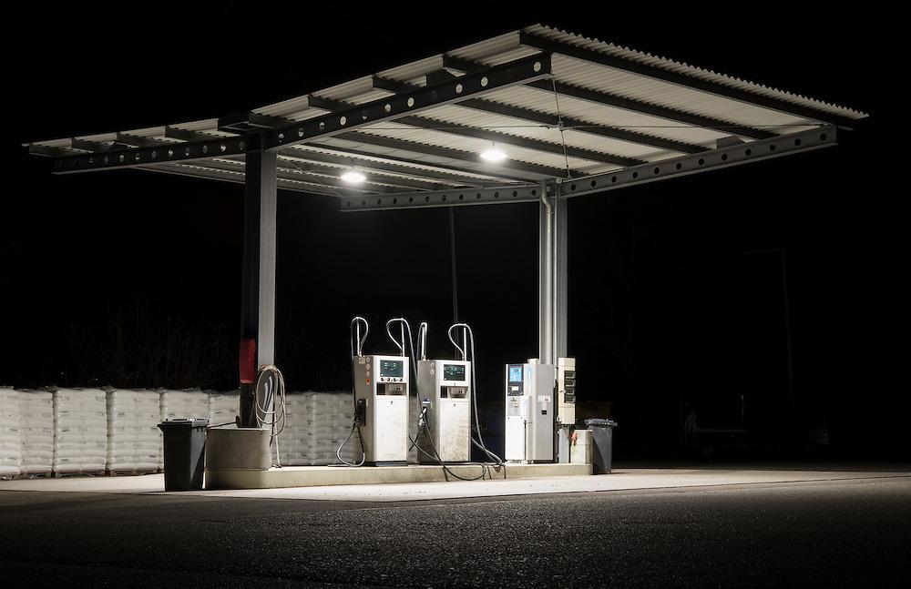 22.02.2017; Albbruck; Tankstelle an der Dr. Rudolf-Eberle Strasse<br /> (Steffen Schmidt)