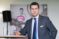 **FILE PIC - Steven Woolfe has been reportedly taken to hospital after collapsing at the European Parliament building in Strasbourg**<br /> © Licensed to London News Pictures . FILE PICTURE DATED 25/09/2015 of STEVEN WOOLFE at the 2015 UKIP Party Conference at Doncaster Racecourse , UK as today , 14th July 2016 , Woolfe has declared his intention to stand as the next leader of UKIP , following the resignation of Nigel Farage . Photo credit : Joel Goodman/LNP