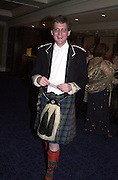 Viscount Dupplin.the Royal Caledonian Ball. 2001. Grosvenor house. London. 3 May 2001. © Copyright Photograph by Dafydd Jones 66 Stockwell Park Rd. London SW9 0DA Tel 020 7733 0108 www.dafjones.com