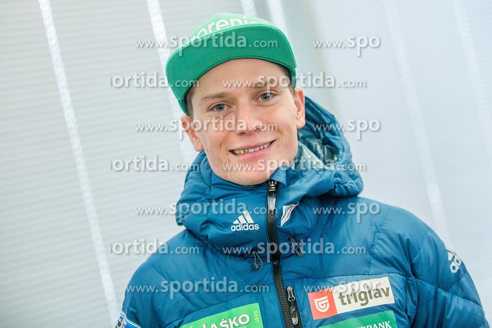 Anze Lanisek Zaba during press conference of Slovenian Nordic Ski team before new season 2017/18, on November 14, 2017 in Gorenje, Ljubljana - Crnuce, Slovenia. Photo by Vid Ponikvar / Sportida