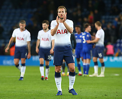 December 8, 2018 - Leicester, England, United Kingdom - Leicester, December 08, 2018.Tottenham Hotspur's Harry Kane applauds the fans after .the English Premier League match between Leicester City and Tottenham Hotspur at the King Power Stadium in Leicester, Britain, 8 December 2018  (Credit Image: © Action Foto Sport/NurPhoto via ZUMA Press)
