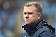 Coventry City manager Mark Robins during the EFL Sky Bet League 1 match between Coventry City and Shrewsbury Town at the Ricoh Arena, Coventry, England on 28 April 2019.