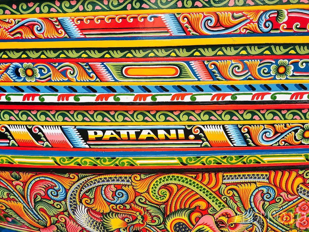 Kolek boat painting Pattani Thailand
