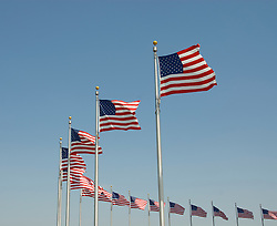 Washington DC USA: American flags at the Washington Monument.Photo copyright Lee Foster Photo # 2-washdc82289