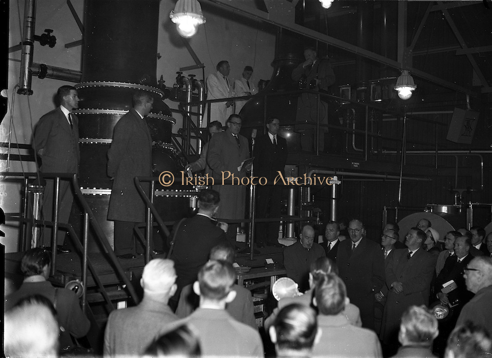 24/11/1958<br /> 11/24/1958<br /> 24 November 1958<br /> <br /> Mr. O'Kennedy and Mr. Sean Lemass Minister for Industry and Commerce at the opening of the John Powers Gin Distillery