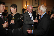 Christine Leonard, Robert Richardson, ( Chairman of CWA) and Elmore Leonard . 2006 Cartier CWA Diamond Dagger Awards,  The Savoy, London. 10 May 2006.  Elmore Leonard receives Crime Writers' Association award recognising an outstanding contribution to the genre. ONE TIME USE ONLY - DO NOT ARCHIVE  © Copyright Photograph by Dafydd Jones 66 Stockwell Park Rd. London SW9 0DA Tel 020 7733 0108 www.dafjones.com