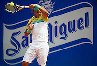 BARCELONA, SPAIN - APRIL 25: Rafael    Nadal during the Open Banco Sabadell 2009 tennis tournament at the Real Club de Tenis on April 25, 2009 in Barcelona. (Photo by Manuel Queimadelos / Firofoto))