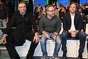 Jasmin Repesa, Pino Sacripanti e Federico Pasquini, Presentazione POSTEMOBILE Final Eight 2017 - Rimini 16-19 fabbraio 2017 - studi RAI, Milano 23 gennaio 2017