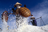 "Salt harvest near Phan Rang, Vietnam<br /> Available as Fine Art Print in the following sizes:<br /> 08""x12""US$   100.00<br /> 10""x15""US$ 150.00<br /> 12""x18""US$ 200.00<br /> 16""x24""US$ 300.00<br /> 20""x30""US$ 500.00"