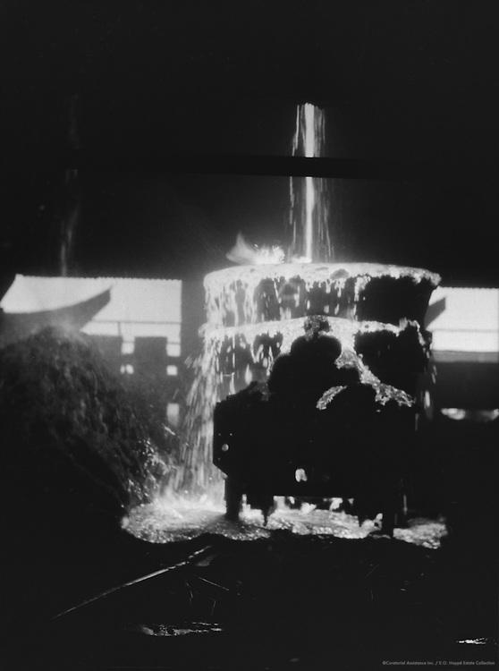 Kicking Out Slag/ Showers of Sparks, Tata Iron & Steel Works, Jamshedpur, India, 1929