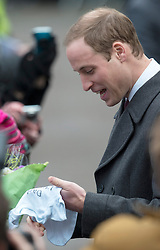 Duke of Cambridge makes official visit to Peterborough City hospital, Peterborough, England, November 28, 2012. Photo by i-Images.