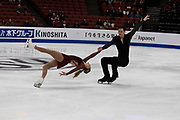 Camille Ruest and Andrew Wolfe from Canada competes in the Pairs Short Program during the ISU - Four Continents Figure Skating Championships, at the Honda Center in Anaheim California, February 5-10, 2019