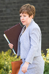 Downing Street, London, May 17th 2016. Leader of the House of Lords, Baroness Tina Stowell arrives at the weekly cabinet meeting in Downing Street.