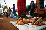 Sweet potatoes for sale at Buhongwa market near Mwanza, Tanzania on Monday December 14, 2009.