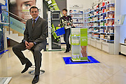 Moscow, Russia, 04/04/2006..Artem Bektemirov, CEO of pharmacy chain 36.6, in their newest city centre store.