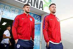 Fraser Foster and Gary Cahill during a tour of the stadium before an England press conference ahead of the football match between National teams of Slovenia and England in Round #3 of FIFA World Cup Russia 2018 Qualifier Group F, on October 10, 2016 in SRC Stozice, Ljubljana, Slovenia. Photo by Morgan Kristan / Sportida