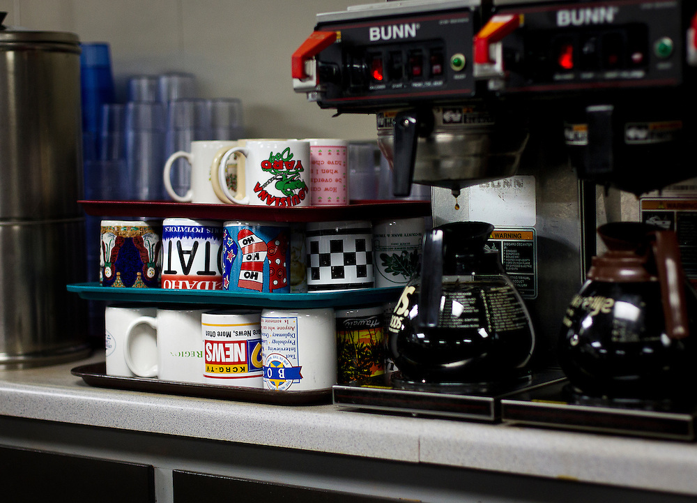MONTICELLO, IA – JANUARY 6: A wide variety of coffee mugs are given to diners at Darrell's in Monticello, Iowa on January 6, 2017.