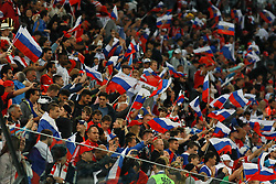 June 19, 2018 - SãO Petersburgo, Rússia - SÃO PETERSBURGO, MO - 19.06.2018: RUSSIA VS EGYPT - Russian fans during the match between Russia and Egypt valid for the 2018 World Cup held at the Zenit Arena in St. Petersburg, Russia. (Credit Image: © Ricardo Moreira/Fotoarena via ZUMA Press)
