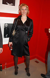 MISS MICKEY SUMNER daughter of singer Sting at a private view of an exhibition of photographs by the late Robert Mapplethorpe curated by artist David Hockney at the Alison Jacques Gallery, 4 Clifford Street, London W1 on 13th January 2005.<br /><br />NON EXCLUSIVE - WORLD RIGHTS