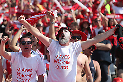 May 20, 2018 - Lisbon, Portugal - Aves' supporters celebrate during the Portugal Cup Final football match CD Aves vs Sporting CP at the Jamor stadium in Oeiras, outskirts of Lisbon, on May 20, 2015. (Aves won 2-1) (Credit Image: © Pedro Fiuza/NurPhoto via ZUMA Press)