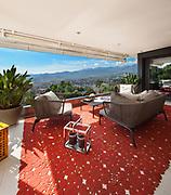 Interior of house, beautiful balcony furnished