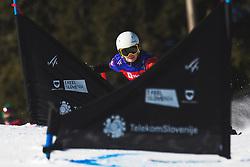 Kiki Bedier De Prairie (NED) during parallel slalom FIS Snowboard Alpine World Championships 2021 on March 2nd 2021 on Rogla, Slovenia. Photo by Grega Valancic / Sportida