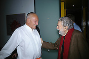 Sir Richard Rogers and Alain Robbe Grillet, Party hosted by Sir Richard and Lady Ruth Rogers at their house in Chelsea  to celebrate the extraordinary achievement of completing this year's Pavilion  by Olafur Eliasson and Kjetil Thorsenat at the Serpentine.  13 September 2007. -DO NOT ARCHIVE-© Copyright Photograph by Dafydd Jones. 248 Clapham Rd. London SW9 0PZ. Tel 0207 820 0771. www.dafjones.com.