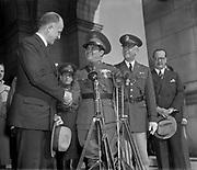 Sumner Welles (1892-1961) US Under-Secretary of State  with Cuban leader Fulgencio Batista as General Malin Craig, American Army Chief of Staff, looks on, 1938.
