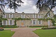 Vieux Chateau Certan and its court yard Pomerol Bordeaux Gironde Aquitaine France