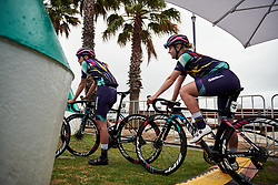 Hannah Ludwig (GER) makes her way to sign on at the 2020 Cadel Evans Great Ocean Road Race - Deakin University Women's Race, a 121 km road race in Geelong, Australia on February 1, 2020. Photo by Sean Robinson/velofocus.com
