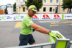 Worker after 1st Stage of 25th Tour de Slovenie 2018 cycling race between Lendava and Murska Sobota (159 km), on June 13, 2018 in  Slovenia. Photo by Matic Klansek Velej / Sportida