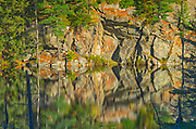 Rock pattern reflection in lake<br />Dorset<br />Ontario<br />Canada