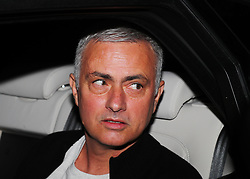 Jose Mourinho leaves The Lowry Hotel for the last time on Tuesday afternoon.