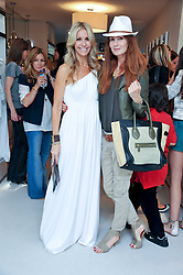 Left to right, MELISSA ODABASH and ANGELA DUNN at the opening of the new Melissa Odabash store in Walton Street, London SW3 on 7th July 2011.