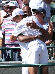 Chun Hsin Tseng celebrates winning the Boys' Singles Final on day thirteen of the Wimbledon Championships at the All England Lawn Tennis and Croquet Club, Wimbledon.
