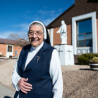 Mother Magda Garcia, Immigration Specialist for Catholic Charities of Gallup photographed at Casa Reina Sisters of Our Lady of Guadalupe and St. Joseph, Wednesday, Nov. 28 in Gallup.
