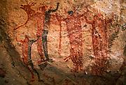 MEXICO, BAJA CALIFORNIA Rock Art, Paleolithic, Cueva Fletcha