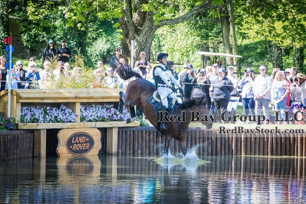 Felix Vogg (SUI) and Colero during the cross-country at the 2019 Land Rover Kentucky Three-Day Event presented by MARS EQUESTRIAN in Lexington, Kentucky