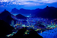 Looking down from Sugarloaf (Urca Mountain), Rio de Janeiro, Brazil