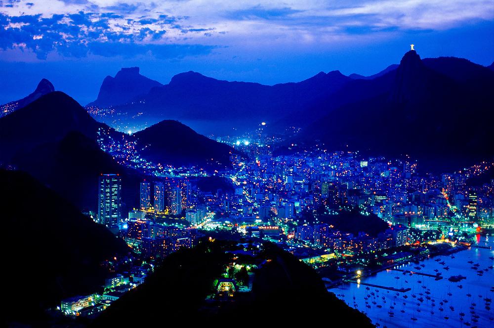Looking down from Sugarloaf (Urca Mountain), Rio de Janeiro, Brazil