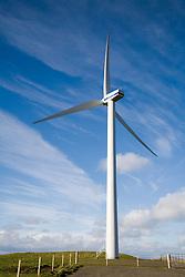Communityowned wind turbine on island of Burray; Orkney,