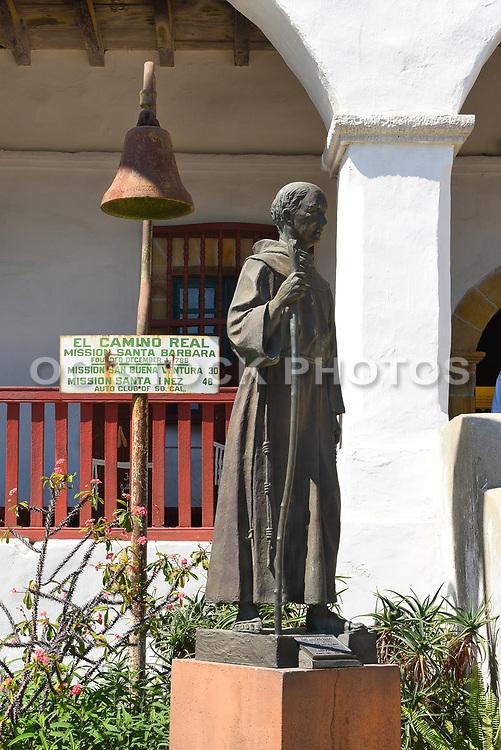 Junipero Serra Statue at Santa Barbara Mission